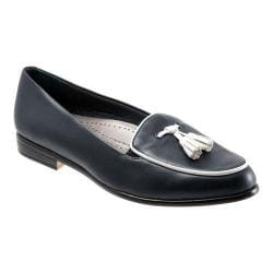 Women's Trotters Leana Navy Burnished Soft Kidskin/White Patent