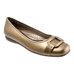 Women's Trotters Sizzle Signature Flat Bronze Metallic Soft Tumbled Leather