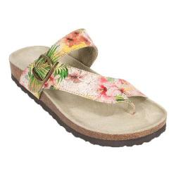 Women's White Mountain Carly Hawaiian Floral Leather