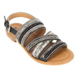 Women's White Mountain Devlyn Strappy Sandal Black Smooth Synthetic