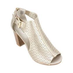 Women's White Mountain Dreamy Ankle Strap Sandal Light Gold/Metallic Smooth Synthetic