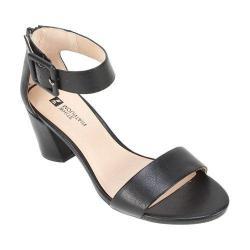 Women's White Mountain Elixir Ankle Strap Sandal Black Smooth Synthetic