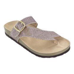 Women's White Mountain Henri Thong Sandal Light Gold Glitter Synthetic
