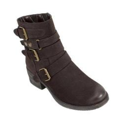 Women's White Mountain Major Biker Boot Brown Suede Smooth Synthetic