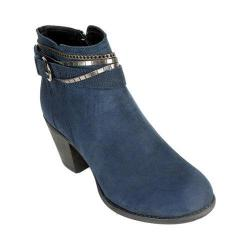 Women's White Mountain Mayflower Ankle Bootie Navy Suede