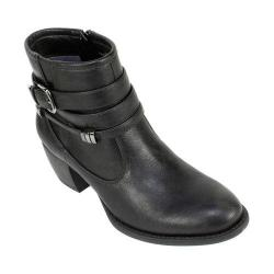 Women's White Mountain Ruckess Ankle Bootie Black Smooth Synthetic
