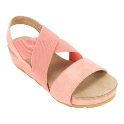 Women's White Mountain Savage Strappy Sandal Coral Smooth Synthetic