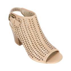 Women's White Mountain Shanie Open Toe Bootie Honey Leather