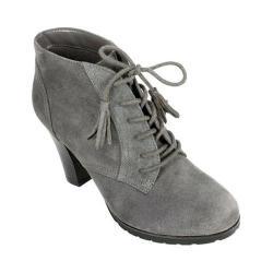 Women's White Mountain Shauna Ankle Bootie Dark Charcoal Nubuck