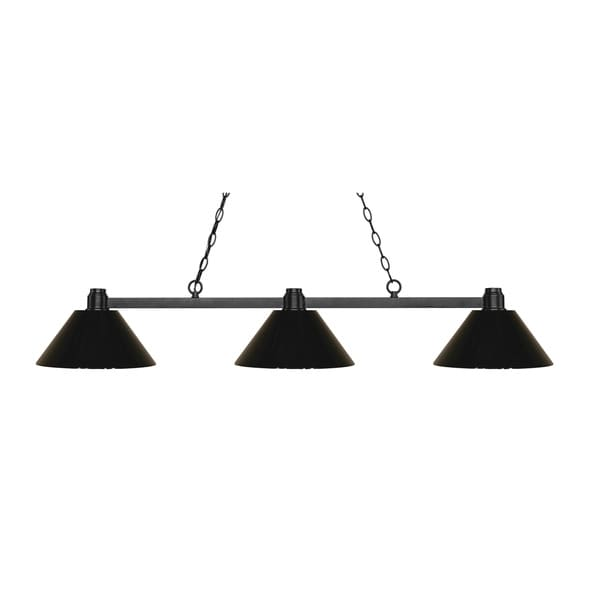 Z-Lite Park Bronze 3-lights Bronze Island/Billiard