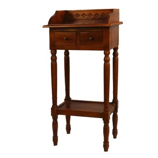 Reed Three Drawer Table