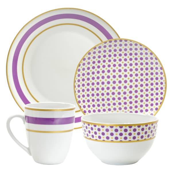 Lilac 16pc Dinnerware Set