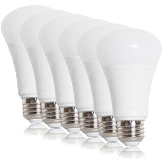 Maxxima A19 LED Light Bulb, 800 Lumens, 10 Watts Warm White (6 Pack)