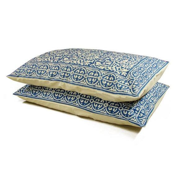 Chain Pillow Sham Indigo - Standard (India)