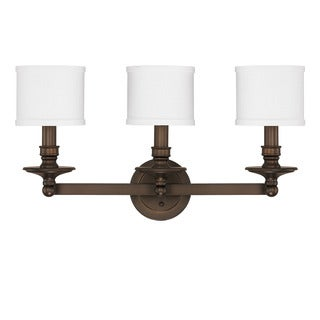 3 Light Lismore Strip Oil Rubbed Bronze Vanity 16849434 Overstock Shoppin
