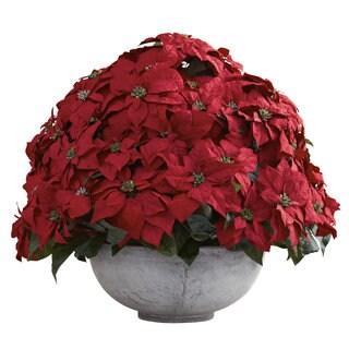Giant Poinsettia Arrangement w/Decorative Planter