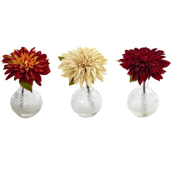 Dahlia w/Decorative Vase (Set of 3)