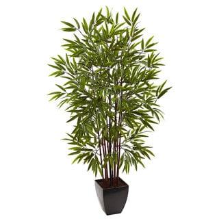 5-foot Bamboo Silk Tree w/Planter
