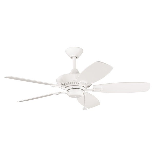 "Kichler Lighting Canfield 44"" Collection 44-inch 5-blade Satin Natural White Ceiling Fan"
