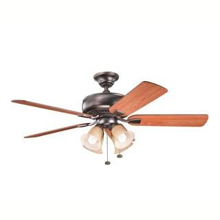 Kichler Lighting Saxon Premier Collection 52-inch 5-blade Oil Brushed Bronze Ceiling Fan
