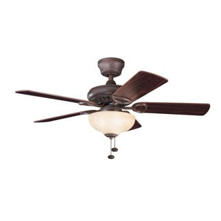 Kichler Lighting Sutter Place Select Collection 42-inch 5-blade Tannery Bronze Ceiling Fan
