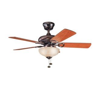 Kichler Lighting Sutter Place Select Collection 42-inch 5-blade Oil Brushed Bronze Ceiling Fan