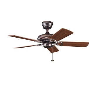 Kichler Lighting Sutter Place Collection 42-inch 5-blade Oil Brushed Bronze Ceiling Fan