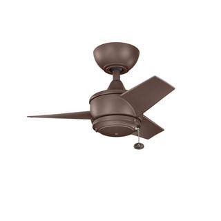 Kichler Lighting Yur Climates Collection 24-inch 3-blade Coffee Mocha Ceiling Fan
