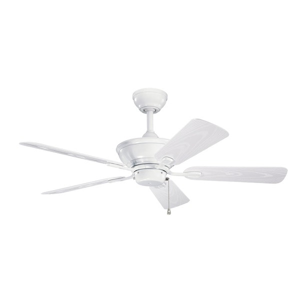 Kichler Lighting Trent Collection 44-inch 5-blade White Ceiling Fan