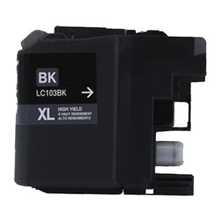 1 PK Compatible LC103 BK XL Inkjet Cartridge For Brother MFCAN-J4410DW MFCAN-J4510DW (Pack of 1)