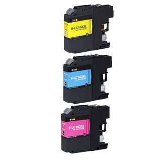 3 PK Compatible LC103 (C M Y) XL Inkjet Cartridge For Brother MFCAN-J4410DW MFCAN-J4510DW (Pack of 3)