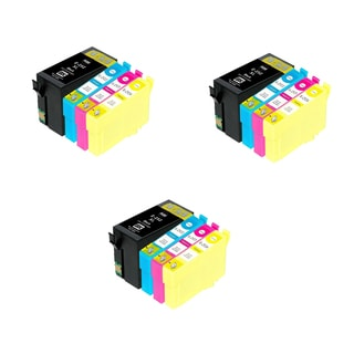 12PK 3XT252XL BKCMY Compatible Inkjet Cartridge For Epson WF-3640 WF-7110 (Pack of 12)