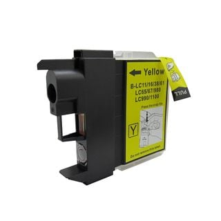 1 PK Compatible LC61 Y Inkjet Cartridge For Brother DCP-165c MFCAN-290C (Pack of 1)