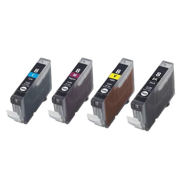 4PK CLI-8 BK C M Y 1Set Compatible Inkjet Cartridge For Canon PIXMA IP4200 5200 6600D 6700D MP500 MP800 (Pack of 4)
