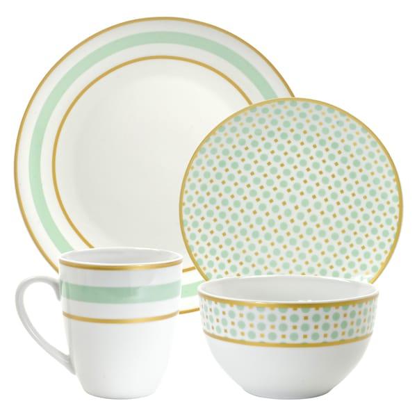 10 Strawberry Street Mint 16-piece Dinnerware Set