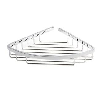 Naples Series Chrome Curved Corner Shower Basket
