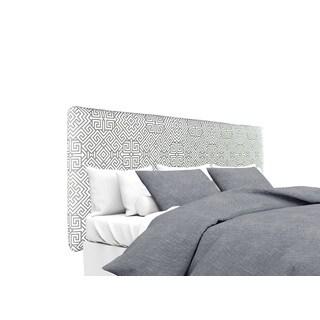 MJL Furniture Alice Santorini Summerland-Grey Designer Upholstered Headboard