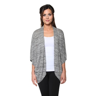 Free to Live Women's Dolman Sleeve Drapy Open Front Cardigan