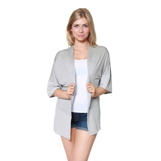 Free to Live Women's Colorblock Open Front Kimono Cardigan