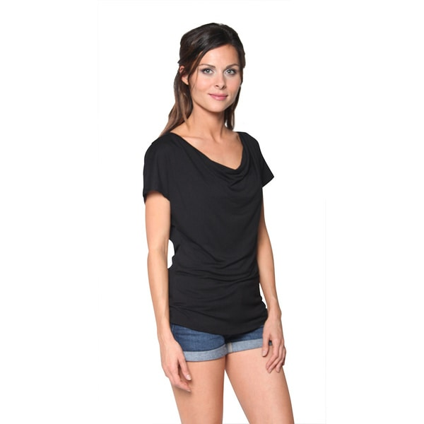 FTL Women's Short Sleeve Cowl Neck Blouse Tunic Tops (Pack of 3)