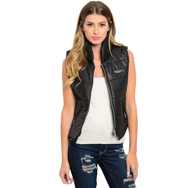 Shop the Trends Women's Quilted Down Vest With Hidden Side Pockets