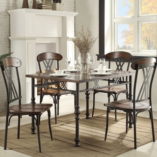 Jayda Contemporary Two-tone Ash Brown And Black 5- piece Dining Set