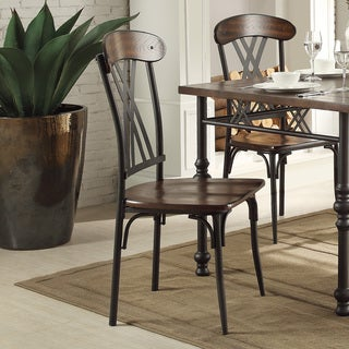 Jayda Contemporary Two-tone Ash Brown And Black Dining Chair (Set of 4)