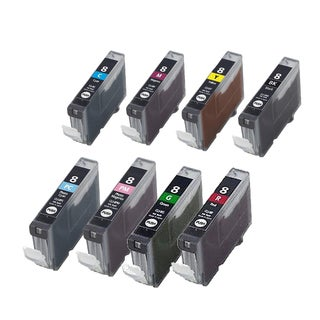 8PK CLI-8 BK C M Y PC PM G R Compatible Inkjet Cartridge For Canon PIXMA 5200 6600D 6700D (Pack of 8)