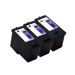 3PK 2 x KX701 / JP451 + KX703 / JP453 Black & Color Compatible Inkjet Cartridge For Dell 948 V505 V505w (Pack of 3)