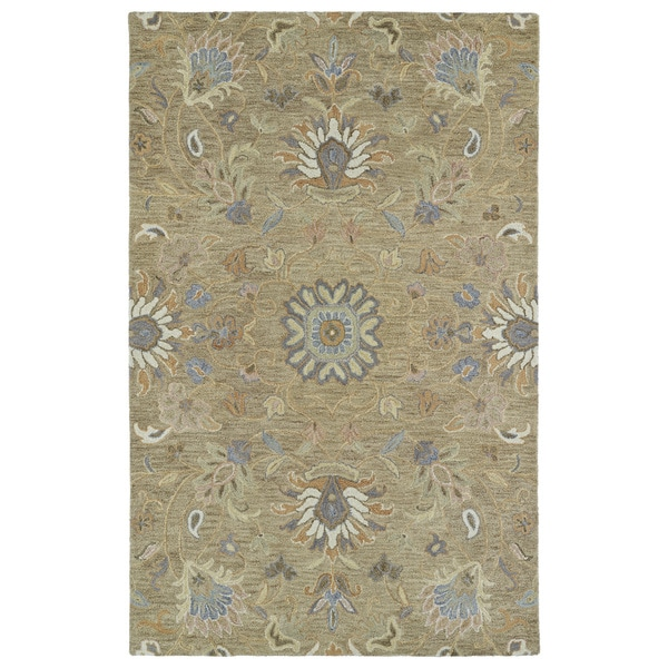 Christopher Kashan Light Brown Hand-Tufted Rug (9'0 x 12'0)