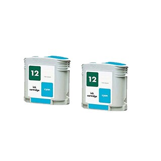 2PK C4804A HP 12 Cyan Compatible Ink Cartridge For HP Designjet 3000 (Pack of 2)