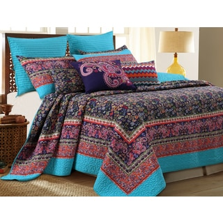 Gala Oversized Cotton 3-piece Quilt Set