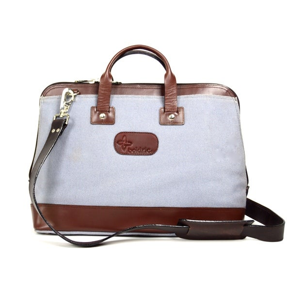 Canvas Casual Leather Trim Tote