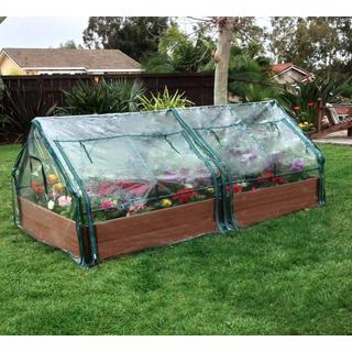 Frame It All Raised Garden 2-inch (4' x 8') 2 Level c/w 2 PVC Greenhouse